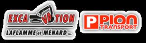 Logo Excavation Laflamme et Ménard et Pion Transport